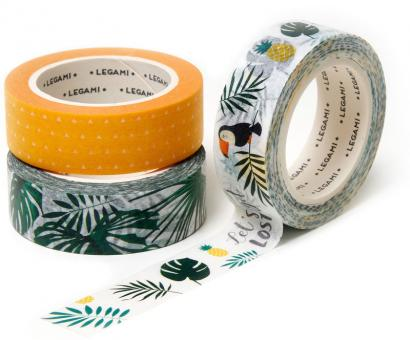 Legami Papier Band Tape By Tape 3er Set Jungle