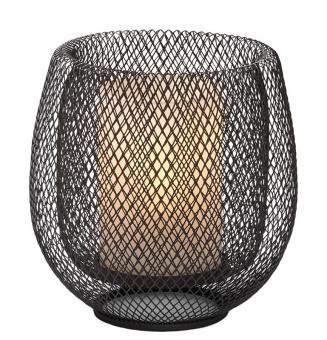 Philippi Leuchte + Glaszylinder Mesh