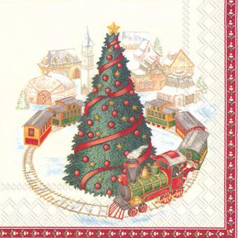 IHR Lunch-Servietten 33x33 cm Christmas Train In Town V&B