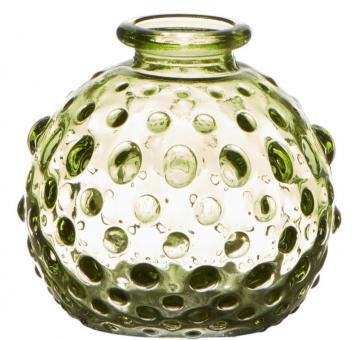 Hakbijl Minivase Leaf grün H 9,5 cm Ø 8 cm