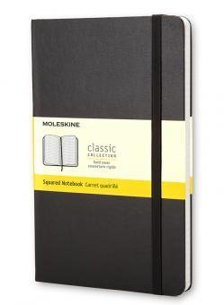 Moleskine Notizbuch P/A6 Kariert Hard Cover Schwarz
