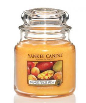Yankee Candle Kerze mittel Mango Peach Salsa