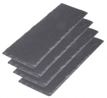 Westmark 4er Set Servierplatten Naturschiefer Tapas + Friends 30x10 cm