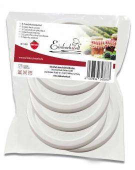Einkochwelt Frischhaltedeckel für Weck-Rundrandglas