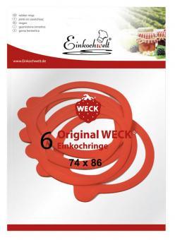 Einkochwelt 6er Beutel 074x086 mm Weck-Gummiringe