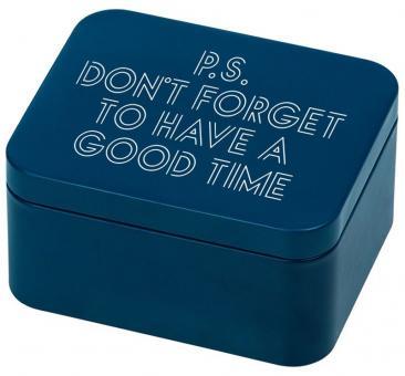 Birkmann Geschenkbox P.S. Don´t forget to have a good time Blau