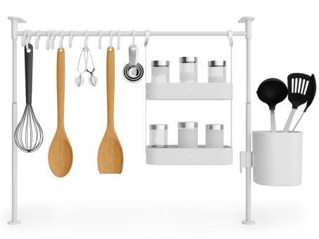 Umbra Küchen-Organizergestell groß Anywhere Tension weiß