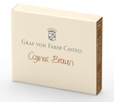 Graf von Faber-Castell Tintenpatronen Cognac Brown 6x in Faltschachtel