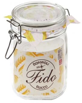 Einkochwelt Drahtbügelglas Fido quadratisch 1115 ml