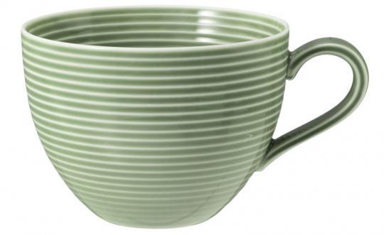 Seltmann Beat Milchkaffeeobertasse 0,35 L mit Relief Salbeigrün