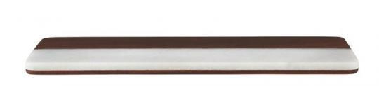Gift Company Stone Platte mit Marmor 48x15 cm weiß/braun