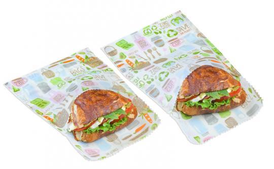 Beeswax Wraps Sandwich & Snack Bag 2tlg. Zero Waste