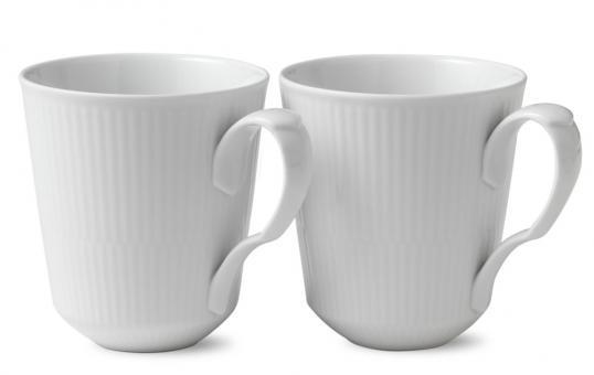 Royal Copenhagen White Fluted Mug Large 2 Stk.