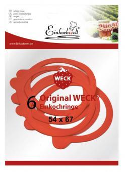 Einkochwelt 6er Beutel 054x067 mm Weck-Gummiringe