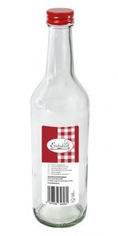 Einkochwelt Gradhalsflasche 500 ml mit Schraubdeckel rot