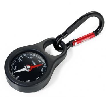 Troika Schlüsselanhänger mit Kompass rot/schwarz