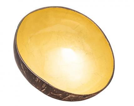 chic.mic Dekoschale Kokusnuss shiny yellow