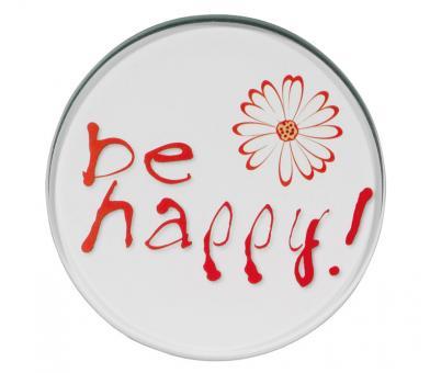 Cilio Glasuntersetzer Be Happy Set a 4 Stk.