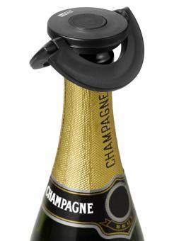 AdHoc Sekt-und Champagnerverschluss Gusto schwarz Kunststoff/Silikon Ø 8,2 cm