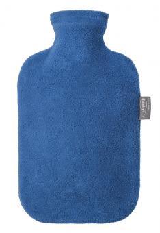 Fashy Wärmflasche mit Vliesbezug saphir 2 L