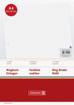 Brunnen Ringbucheinlage A4 kariert 50 Blatt