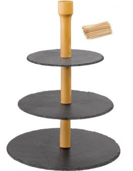 Westmark Etagere 3-stufig Tapas + Friends + 100 Mini-Fingerfood-Sticks