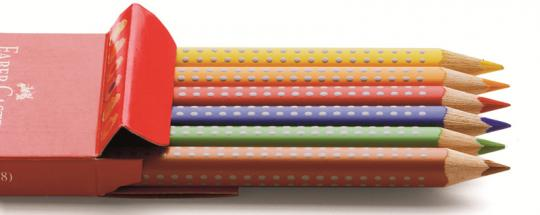 Faber-Castell Buntstift Jumbo Grip 6er Kartonetui