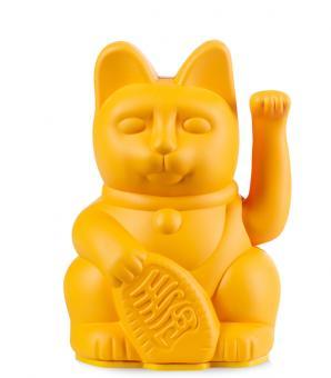 Donkey Winkekatze groß Lucky Cat Dark Yellow