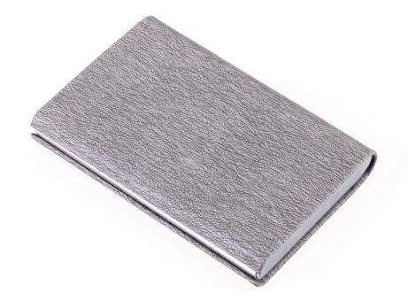 Troika Kreditkartenetui mit Ausleseschutz glänzend grau