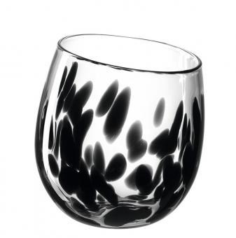 Leonardo Vase/Wl 17 Schwarz Punto Punto