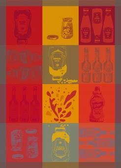 Garnier-Thiebaut Geschirrtuch Ketchup Tomato 56 x77 cm