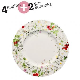 Rosenthal Selection Brillance Fleurs Sauvages Frühstücksteller 23 cm Fahne Set 4+2
