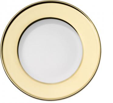 Dibbern Solid Color Gold Teller Flach 21 cm Fahne