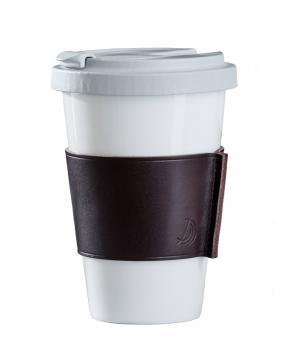 Dibbern Fine Bone China Becher Konisch Coffee To Go Taupe Classic