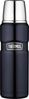Thermos Isolierflasche Stainless King Edelstahl lackiert midnight blue 0,47 L