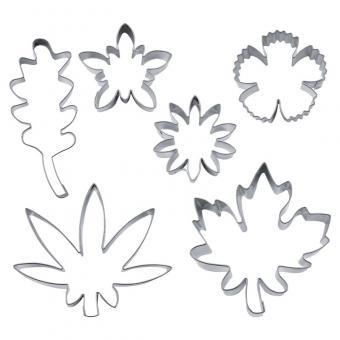 Städter Blüten & Blätter 4,5–8 cm Set 6-tlg. Edelstahl