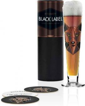 Ritzenhoff Black Label Bierglas A. Schiewer H19 Beer Bierstange Und Black Label Bierglas