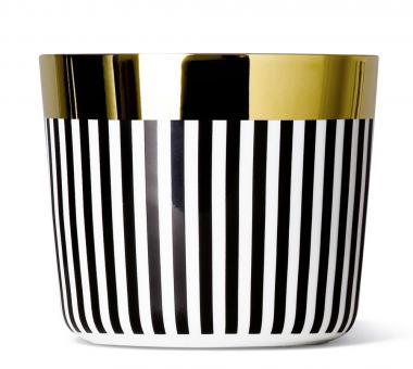 Sieger by Fürstenberg Temptation Sip of Gold Becher ohne Henkel Ca`d`Oro vertical stripes
