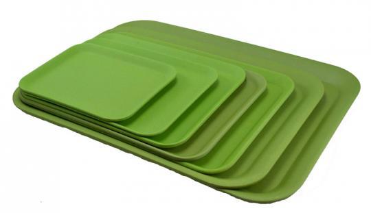 Magu Natur-Design Tablett 30,5x22 cm grün