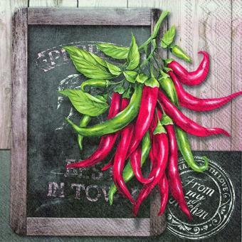 IHR Lunch-Servietten 33x33 cm Fresh Chili