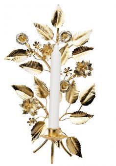 Greengate Kerzenwandhalter gold