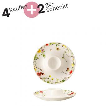 Rosenthal Selection Brillance Fleurs Sauvages Eierbecher mit Ablage Set 4+2