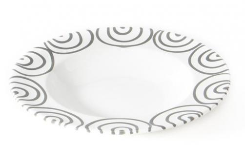 Gmundner Keramik Graugeflammt Teller/Suppe Gourmet 24 cm