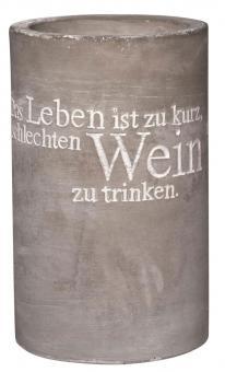 Räder P.e.t. Vino Beton Weinkühler Das Leben ist zu kurz.ca 21. cm