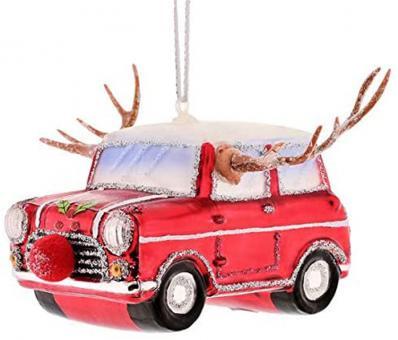 Gift Company Hänger Auto Rudolf rot