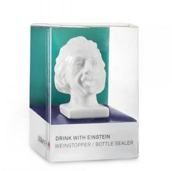 Donkey Portrait-Korken Drink With Einstein