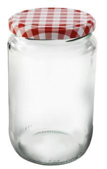 Einkochwelt Glas rund mit Schraubdeckel 720 ml TO82