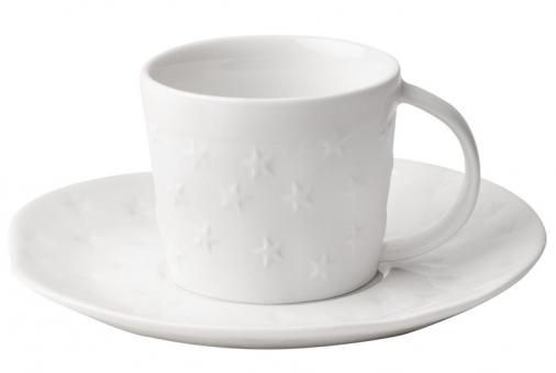 Räder Dining Xmas Kleine Tasse Mit Unterteller Sterne D:13,5 cm