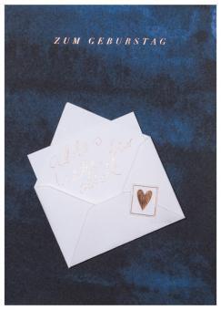 Räder Tintenblau Karte Zum Geburtstag kupfer