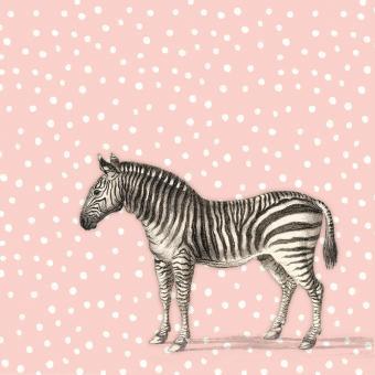 chic.mic Servietten 33x33 cm Zebra aus Bambusfasern